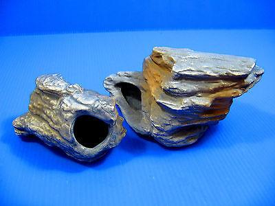4pcs CICHLID STONE Céramique Aquarium Cave Rock Decor pour Tropical Fish Tank 4