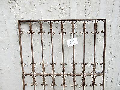 Antique Victorian Iron Gate Window Garden Fence Architectural Salvage Door #674 3