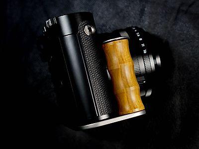New Handmade Yellow Wood Steel Hand Grip For Leica Q Digital Camera Black