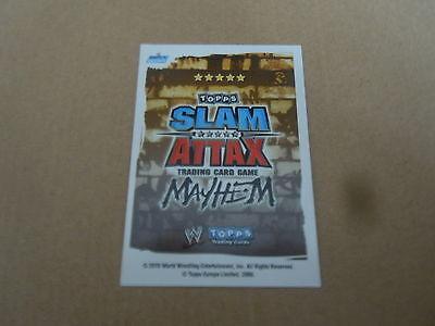Carte catch Slam Attax Mayen 2010 Bleu Hell In A Cell Match
