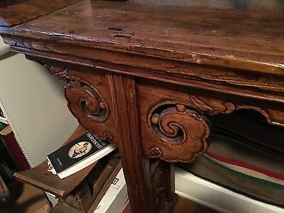 Magnificent Rare 1800's Wood Plank Chinese Altar Table 2