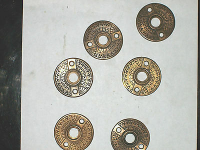 Antique Eastlake Backplates Geometrics Sunspray Design 3