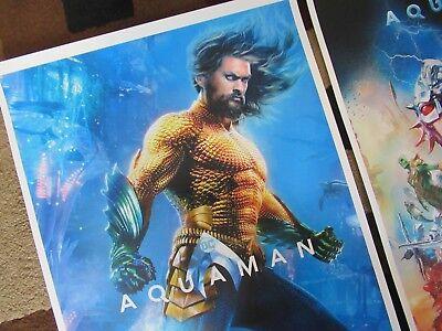 "AQUAMAN ( 11"" X 17"" ) Movie Collector's Poster Prints -( Set of 3 ) 3"