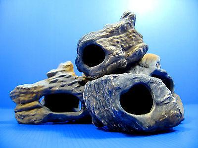 4pcs CICHLID STONE Céramique Aquarium Cave Rock Decor pour Tropical Fish Tank 12