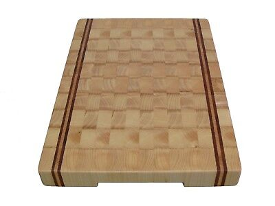 Handmade, Cutting Board End Grain, with Feet, Butcher Block, Chopping Board, Ash 3