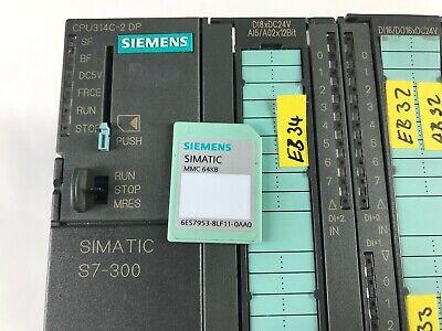 Siemens 6Es7 314-6Cf02-0Ab0 6Es7314-6Cf02-0Ab0 W/ 6Es7953-8Lf11-0Aa0 3