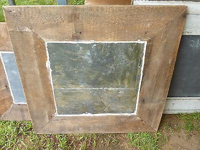 "c1920 VINTAGE schoolhouse SLATE chalkboard repurposed w salvaged WOOD FRAME 26"" 7"