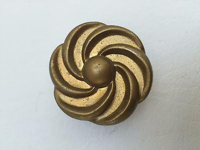 Brass Antique Hardware MCM ART DECO FRENCH PROVINCIAL Cabinet Knob Drawer Pull