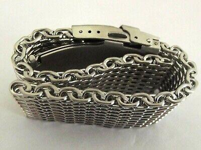 bracciale mesh shark massiccio orologi acciaio maglia milano silver ansa 20 mm 5
