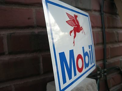 Mobil Motor Oil Gas Pump SIGN Gasoline Oil Mechanic Garage Shop Free Shipping