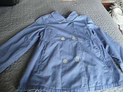 GAP Girls Washed Blue fully lined double breasted Swing Style jacket coat XL13 3