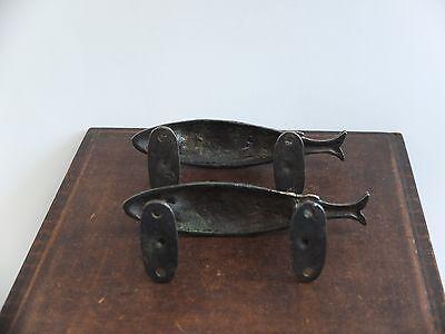 Vintage Antique Style Solid Brass Pair Of Door Handles Pulls 4