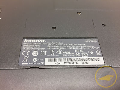 Lenovo  Pro Dock Docking Station T440 T450 T460 T540 40A1 With AC Adapter