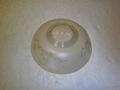 Antique light fixture glass shade Cream or Tan 3 hole mounted type 2