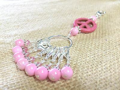 Removable Crochet Stitch Markers With Lanyard For Knitting Too