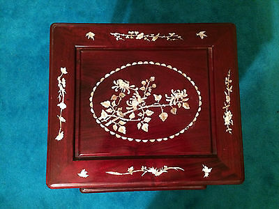 Antique Chinese Rosewood Hand Made Nesting Tables Inlaid Mother Of Pearl 4