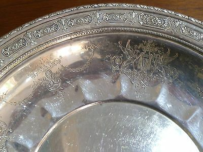 """Amazing Towle Sterling Silver Tray Charger Plate Old Master #6668 12"""" Wide 5"""