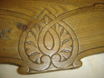 Chestnut Pediment Chair Top  Decorative Architectural Wall Hanging Crown 6675h 3