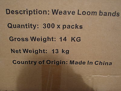 Carboot Joblot 40 Packet Bag Of 600 Loom Bands Birthday Party Present Clearance 3