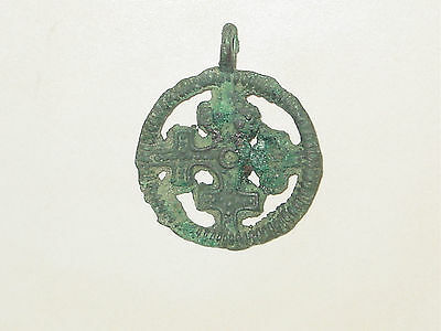 "Amazingly stunning Viking  pendant "" Cross in a circle"".  c 10--11 AD 11"