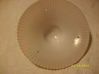 Antique or vintage glass ceiling light fixture shade 3 hole type 6