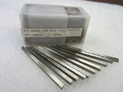 "30pcs 1//4 x 3//8 x 3/"" Rectangular HSS tool bits for $38.00 #HS-2BT-14R---new"