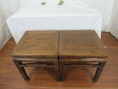 A pair of Chinese Antique Cafe Table /Stool Ming Dynasty Style 12