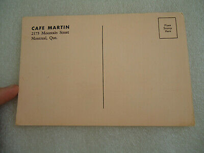 "Vintage Canada Postcard  Cafe Martin  ""When in Montreal"" 4"