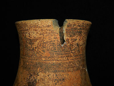 Pre-Columbian Pedestal Urn, Chimney Pot,Polychrome, Nicoya, Very Large 7