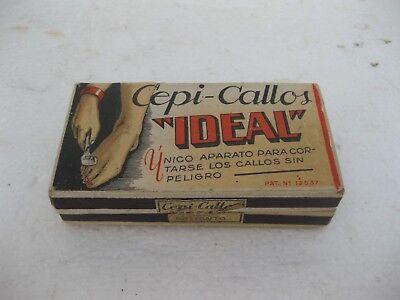 antiguo utensilio para los callos en su caja original y con sello franquista 3
