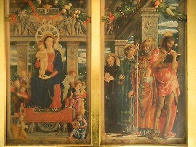 Quadro Di Vecchia Stampa F.lli Alinari - Trittico Di Andrea Mantegna 3