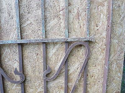 Antique Victorian Iron Gate Window Garden Fence Architectural Salvage Door FFF 6