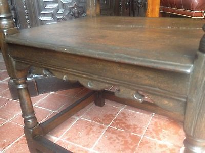Splendid 17th century lozenge carved oak Wainscot armchair Anglesey North Wales 8