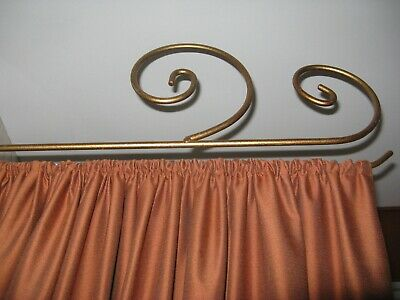 Modern Style Swing Arm Curtain/Drapery Rod in Antique Metal Gold Finis 3