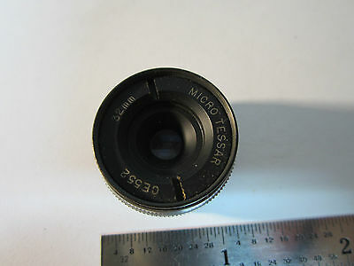 Microscope Pièce Objective Bausch Lomb Miro Tessar 32 mm Optiques Bin #24-57-2 2