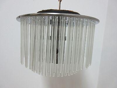 Vintage Mid Century Lightolier  Swizzle Sticks Hanging Light Chandelier Lamp 6