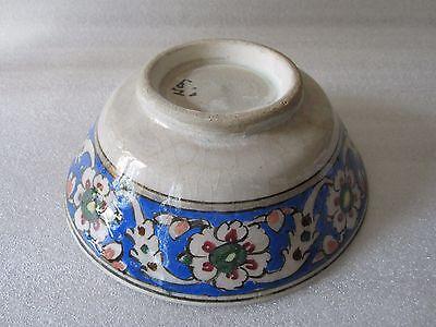 Beautiful Antique Iznik Turkish Ottoman Faience Pottery Hand Painted Bowl 5