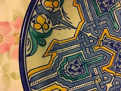 Colorful Tin Glaze Footed Bowl Persian Islamic, Iznik 5