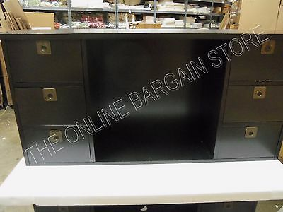 4 Of 9 Pottery Barn Alden Home Office Desk VERTICAL HUTCH Cubby Drawers Black