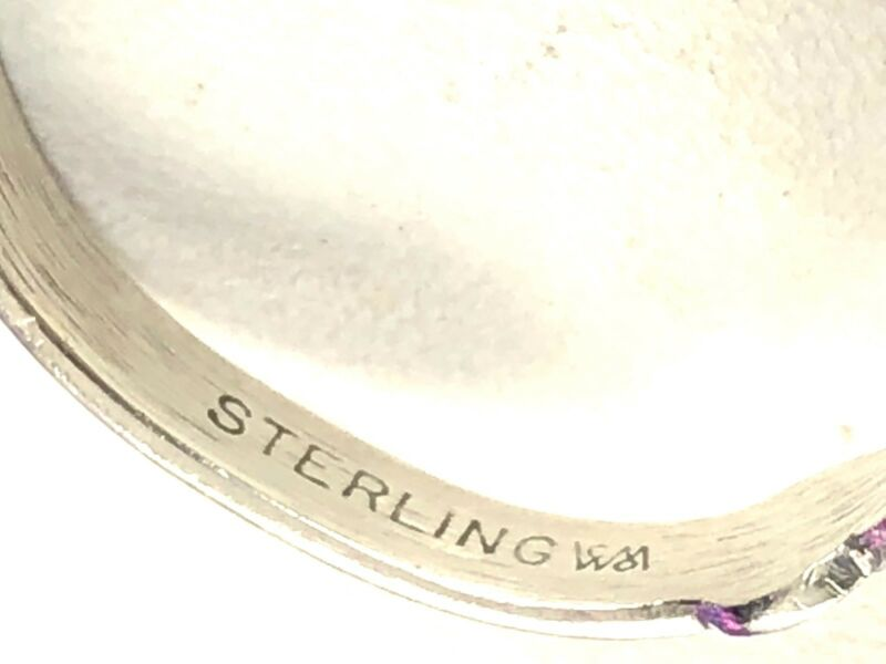 Striking Signed Wheeler Manufacturing Sterling Silver Paua Shell Accent Ring 6