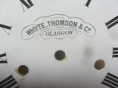 Brass Ships Clock By Whyte Thompson & Co Glasgow 10