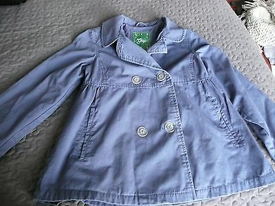 GAP Girls Washed Blue fully lined double breasted Swing Style jacket coat XL13 4