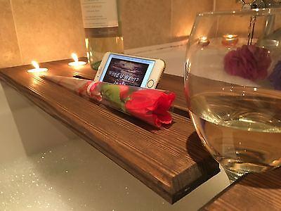 WOODEN BATH BOARD Bath Bridge Bath Caddy Bath Rack Bathroom Wine ...