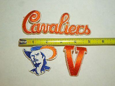 "UVA u of va 1.25/"" wide uva Virginia Cavaliers patch iron on heat seal 8 pcs"