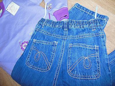 Fixoni girl outfit set warm top jumper & jeans 98-104 cm 3-4 y BNWT designer 3
