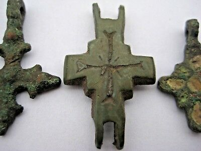 ANCIENT CROSS ENCOLPION Viking Kievan Rus 10-12 century AD 2