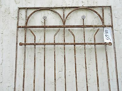 Antique Victorian Iron Gate Window Garden Fence Architectural Salvage Door #65 3