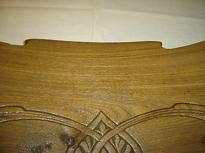 Chestnut Pediment Chair Top  Decorative Architectural Wall Hanging Crown 6675h 5