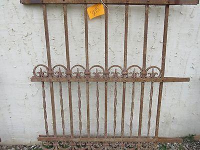 Antique Victorian Iron Gate Window Garden Fence Architectural Salvage Door #305 3