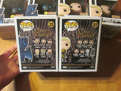 Funko Pop Game Of Thrones Ser Brienne Of Tarth 87 Icy Viserion 22 Lot Box Lunch 2
